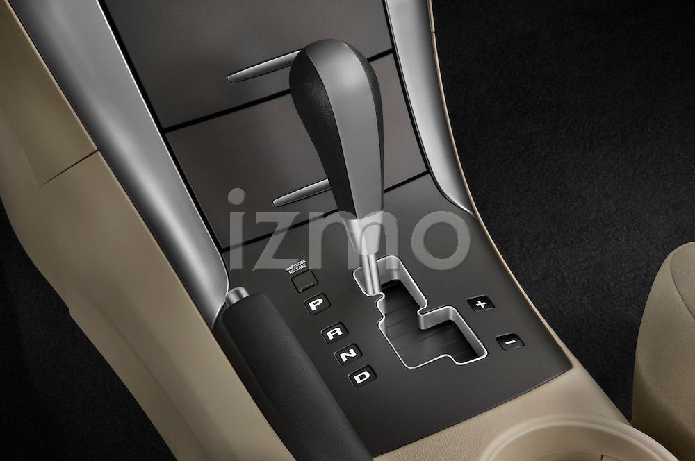 Gear shift detail view of a 2010 Hyundai Sonata GLS