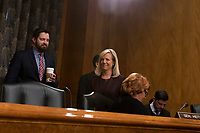 Kirstjen Nielsen prior to her confirmation hearing to be United States Secretary of Homeland Security before the US Senate Homeland Security and Government Affairs Committee on Capitol Hill in Washington, D.C. on November 8th, 2017. <br /> Credit: Alex Edelman / CNP /MediaPunch