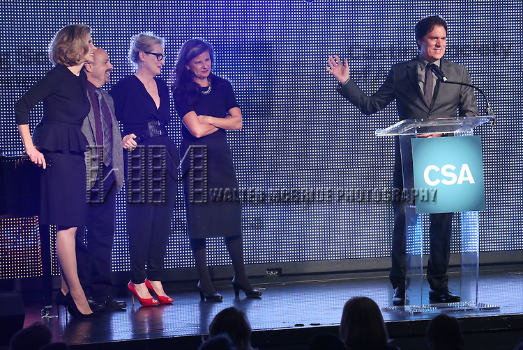 Christine Baranski, David Crane, Meryl Streep and Tracey Ullman present Rob Marshall with the New York Apple Award during the 30th Annual Artios Awards Presentation at 42 WEST on January 22, 2015 in New York City.
