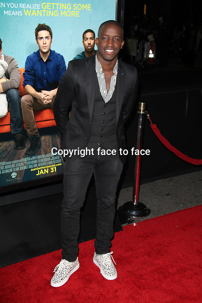 LOS ANGELES, CA - January 27: Elijah Kelley at the &quot;That Awkward Moment&quot; Premiere, Regal Cinemas, Los Angeles, January 27, 2014. <br />