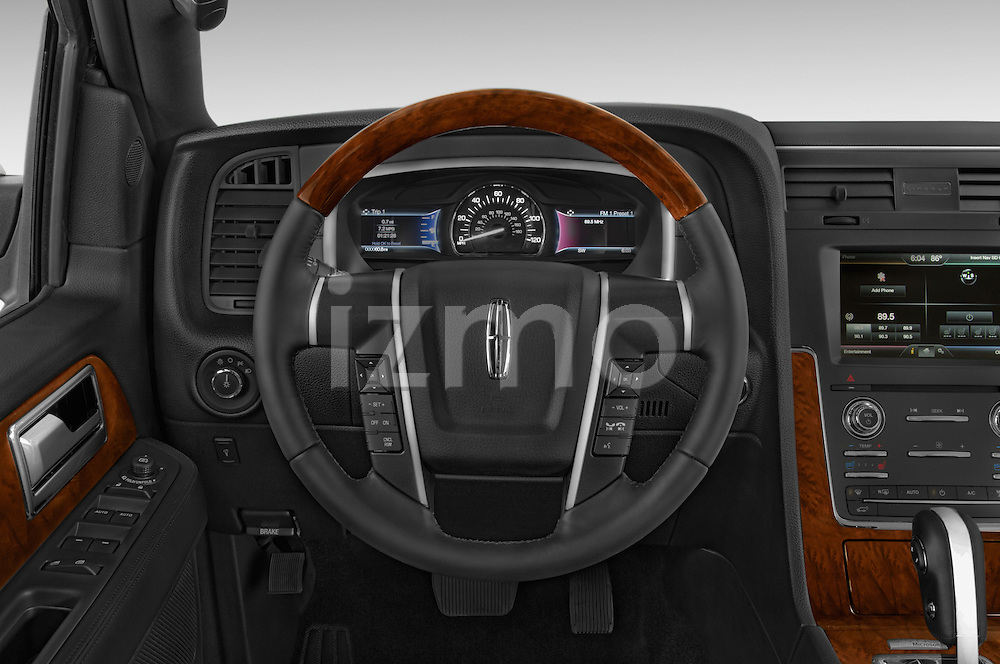 Car pictures of steering wheel view of a 2015 Lincoln Navigator 2Wd AT 5 Door Suv 2WD Steering Wheel