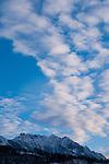 Ruggeller Ried Naturschutzgebiet im Winter, Ruggeller Ried Nature Reserve in winter, Drei Schwestern Massiv, Ruggell, Liechtenstein.