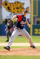 LHP Boone Logan of the Gwinnett Braves, the AAA International League affiliate of the Atlanta Braves,at McCoy Stadium in Pawtucket, RI 5-2-09  (Photo by Ken Babbitt/Four Seam Images)