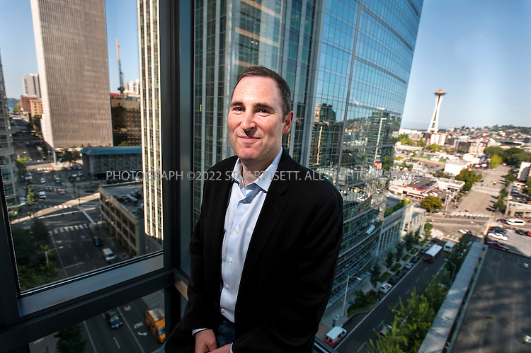 7/25/2012--Seattle, WA, USA..Andy Jassy leads the Amazon Web Services business (AWS) and the Technology Infrastructure organization for Amazon.com. here he poses in the company's offices in downtown Seattle...©2012 Stuart Isett. All rights reserved.