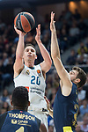 Real Madrid Jaycee Carroll and Fenerbahce Dogus Marko Guduric during Turkish Airlines Euroleague match between Real Madrid and Fenerbahce Dogus at Wizink Center in Madrid , Spain. March 02, 2018. (ALTERPHOTOS/Borja B.Hojas)