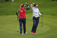 Jessica and Nelly Korda of Team USA on the 2nd green during Day 2 Foursomes at the Solheim Cup 2019, Gleneagles Golf CLub, Auchterarder, Perthshire, Scotland. 14/09/2019.<br /> Picture Thos Caffrey / Golffile.ie<br /> <br /> All photo usage must carry mandatory copyright credit (© Golffile | Thos Caffrey)