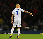 5th October 2017, Hampden Park, Glasgow, Scotland; FIFA World Cup Qualification, Scotland versus Slovakia;  Vladimir Weiss gives directions to team mates