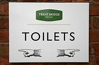 Toilets signage ahead of Nottinghamshire CCC vs Essex CCC, Specsavers County Championship Division 1 Cricket at Trent Bridge on 12th September 2018