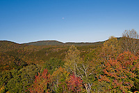 October, 2011. Foliage and landscape at Chilohowee Mountain at Cherokee National Forest in Tennessee.
