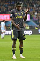 Moise Kean of Juventus celebrates after scoring the goal of 0-1 <br /> Ferrara 13-4-2019 Stadio Paolo Mazza Football Serie A 2018/2019 SPAL - Juventus <br /> Foto Andrea Staccioli / Insidefoto
