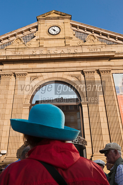Europe/Espagne/Guipuscoa/Pays Basque/Saint-Sébastien: Façade de l'ancien Mercado de La Bretxa,