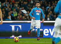 Elseid Hysaj  during the  italian serie a soccer match,between SSC Napoli Sassuolo       at  the San  Paolo   stadium in Naples  Italy , November 28, 2016