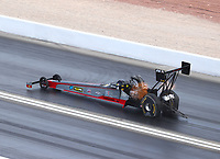 Oct 29, 2016; Las Vegas, NV, USA; NHRA top fuel driver Shawn Reed during qualifying for the Toyota Nationals at The Strip at Las Vegas Motor Speedway. Mandatory Credit: Mark J. Rebilas-USA TODAY Sports