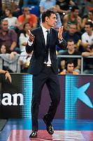 FC Barcelona Lassa coach Georgios Bartzokas during the final of Supercopa of Liga Endesa Madrid. September 24, Spain. 2016. (ALTERPHOTOS/BorjaB.Hojas) NORTEPHOTO.COM