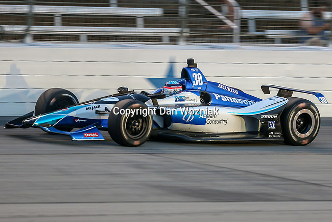Rahal Letterman Lanigan Racing driver Takuma Sato (30) of Japan in action during the DXC Technology 600 race at Texas Motor Speedway in Fort Worth,Texas.