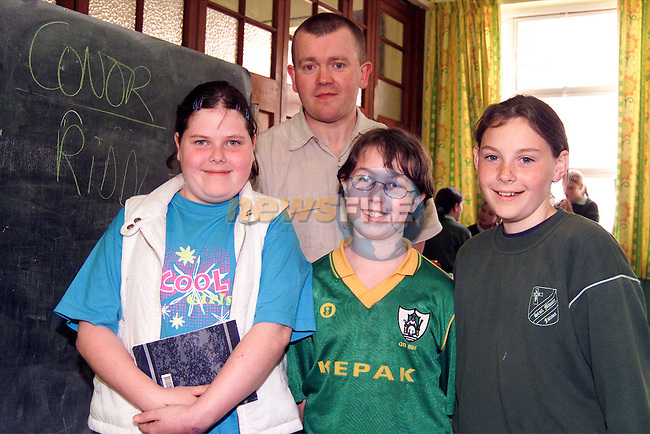 Fatima pupils Emily Carroll, Eimear Lowry and Rhona Saurin with poet Conor O'Callaghan when he paid a visit to the school..Picture: Paul Mohan/Newsfile