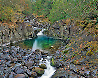 Crabtree Creek in Crabtree Valley near Green Mountain in Linn County, Oregon