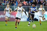 Willie Le Roux of Wasps chases after the ball. Aviva Premiership match, between Bath Rugby and Wasps on March 4, 2017 at the Recreation Ground in Bath, England. Photo by: Patrick Khachfe / Onside Images