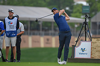 Lucas Bjerregaard (DEN) watches his tee shot on 11 during day 1 of the Valero Texas Open, at the TPC San Antonio Oaks Course, San Antonio, Texas, USA. 4/4/2019.<br /> Picture: Golffile | Ken Murray<br /> <br /> <br /> All photo usage must carry mandatory copyright credit (© Golffile | Ken Murray)
