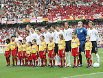 15 June 2006: England starters line up before the game. England defeated Trinidad and Tobago 2-0 at the Frankenstadion in Nuremberg, Germany in match 19, a Group B first round game, of the 2006 FIFA World Cup.