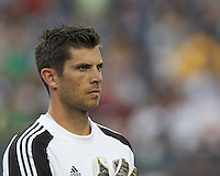 Houston Dynamo goalkeeper Tally Hall (1). In a Major League Soccer (MLS) match, Houston Dynamo (orange) defeated the New England Revolution (blue), 2-1, at Gillette Stadium on July 13, 2013.