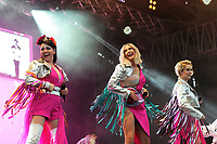 LONDON, ENGLAND - JULY 10: Lisa Scott-Lee, Faye Tozer and Claire Richards of 'Steps' performing at Kew the Music, Kew Gardens on July 10, 2018 in London, England.<br /> CAP/MAR<br /> &copy;MAR/Capital Pictures
