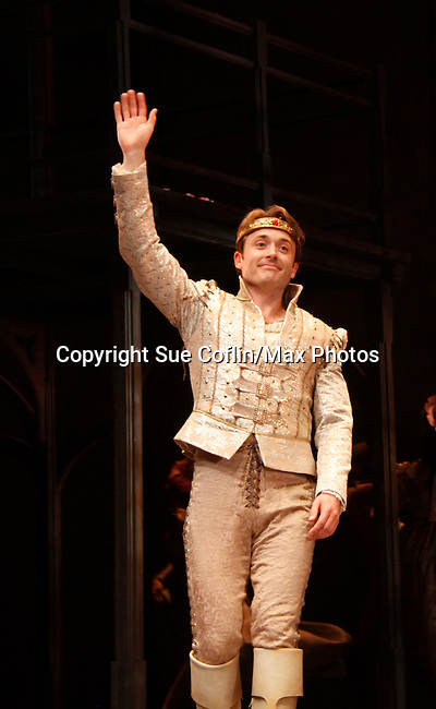 "James Snyder  - ""Prince Henry "" - Paper Mill Playhouse presents the world premiere of the the new musical Ever After on May 31, 2015 with curtain call followed by gala at Charlie Bowns in Millburn, New Jersey (Photos by Sue Coflin/Max Photos)"