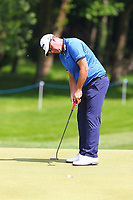 Peter Hanson putts on the 3rd green during the BMW PGA Golf Championship at Wentworth Golf Course, Wentworth Drive, Virginia Water, England on 25 May 2017. Photo by Steve McCarthy/PRiME Media Images.