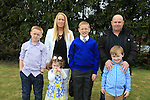 Jake Davies,Samantha and Eddie and alex Josh and Ria..at confirmation in Mell Church..Picture:  www.newsfile.ie ..