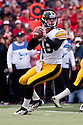 25 November 2011: Quarterback James Vandenberg #16 of the Iowa Hawkeyes drops back to pass against the Nebraska Cornhuskers at the Memorial Stadium in Lincoln, Nebraska. Nebraska defeated Iowa 20 to 7.