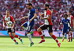 Cesc Fabregas of Chelsea is challenged by Charlie Austin of Southampton during the FA cup semi-final match at Wembley Stadium, London. Picture date 22nd April, 2018. Picture credit should read: Robin Parker/Sportimage