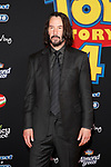 """LOS ANGELES - JUN 11:  Keanu Reeves at the """"Toy Story 4"""" Premiere at the El Capitan Theater on June 11, 2019 in Los Angeles, CA"""