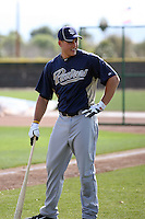 Anthony Rizzo of the San Diego Padres participates in spring training workouts at Peoria Sports Complex on February 27, 2011 in Peoria, Arizona. .Photo by:  Bill Mitchell/Four Seam Images.