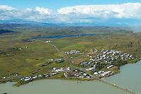 Fellabær séð til norðvesturs, Fljótsdalshérað / Fellabaer viewing northwest, Fljotsdalsherad.