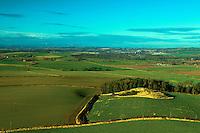 The Pentland Hills from Traprain Law, East Lothian