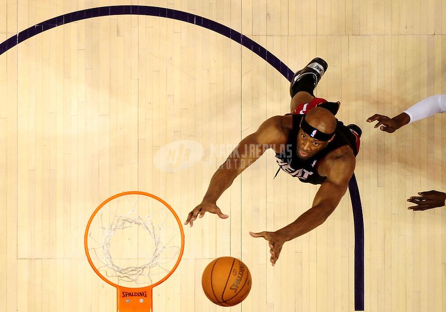 Dec. 23, 2010; Phoenix, AZ, USA; Miami Heat center (25) Erick Dampier against the Phoenix Suns at the US Airways Center. Mandatory Credit: Mark J. Rebilas-