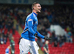 St Johnstone v Hibernian...26.11.11   SPL .Marcus Haber celebrates his goal.Picture by Graeme Hart..Copyright Perthshire Picture Agency.Tel: 01738 623350  Mobile: 07990 594431
