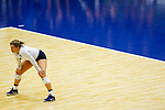 PENSACOLA, FL - DECEMBER 09: Tori Hanson (7) of Concordia University, St. Paul waits for the serve during the Division II Women's Volleyball Championship held at UWF Field House on December 9, 2017 in Pensacola, Florida. (Photo by Timothy Nwachukwu/NCAA Photos via Getty Images)