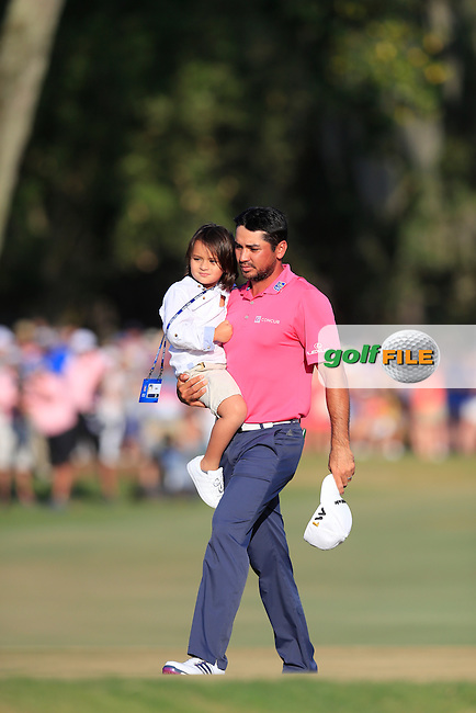 Jason Day (AUS) on the 18th during the final round of the Players, TPC Sawgrass, Championship Way, Ponte Vedra Beach, FL 32082, USA. 15/05/2016.<br /> Picture: Golffile | Fran Caffrey<br /> <br /> <br /> All photo usage must carry mandatory copyright credit (&copy; Golffile | Fran Caffrey)