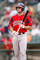 July 22, 2009:  Chris Carter of the Pawtucket Red Sox during a game at Frontier Field in Rochester, NY.  Pawtucket is the Triple-A International League affiliate of the Boston Red Sox.  Photo By Mike Janes/Four Seam Images