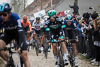 Peter Sagan (SVK/Bora Hansgrohe) in the bunch on the first cobble sector of the day. <br /> <br /> 117th Paris-Roubaix (1.UWT)<br /> 1 Day Race: Compiègne-Roubaix (257km)<br /> <br /> ©kramon