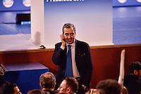 Roma 7 Febbraio  2013.Maurizio Gasparri i sul palco dell'Auditorium della Conciliazione per la campagna elettorale.  ...