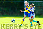 Aoife Roche Castleisland AFC goes on the attack against Inter Kenmare during their u14 Premier game in Castleisland on Saturday