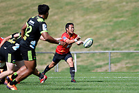 Yutaka NAGARE (流 大) in action during the Hurricanes Hinters v Wolfpack at Jerry Collins Stadium, Porirua, New Zealand on Friday 29 March 2019. <br /> Photo by Masanori Udagawa. <br /> www.photowellington.photoshelter.com