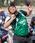Fallon's TJ Mauga competes in the boys shot put during the Reed Sparks Rotary Invitational track and field event at Reed High School in Sparks, Saturday, April 1, 2017.