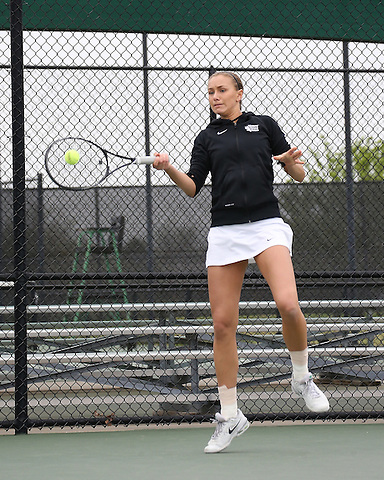 DENTON, TX - APRIL 5: Kseniya Bardabush at Waranch Tennis Center in Denton on April 5, 2014 in Denton, Texas. Photo by Rick Yeatts