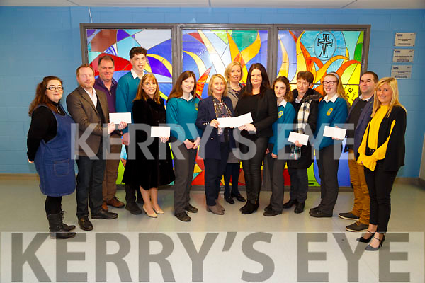 Students from Mercy Mounthawk Secondary School who presented cheques to various charities at their school on Monday, L-r: Cora McElligott (Mercy M