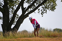 Savannah Vilaubi (a)(USA) chips from the tall grass on 1 during the round 2 of the Volunteers of America Texas Classic, the Old American Golf Club, The Colony, Texas, USA. 10/4/2019.<br /> Picture: Golffile | Ken Murray<br /> <br /> <br /> All photo usage must carry mandatory copyright credit (© Golffile | Ken Murray)