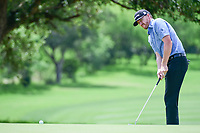Jimmy Walker (USA) watches his putt on 8 during round 2 of the Valero Texas Open, AT&amp;T Oaks Course, TPC San Antonio, San Antonio, Texas, USA. 4/21/2017.<br /> Picture: Golffile | Ken Murray<br /> <br /> <br /> All photo usage must carry mandatory copyright credit (&copy; Golffile | Ken Murray)