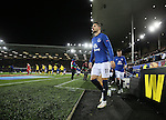 Kevin Mirallas of Everton walks out onto the pitch - UEFA Europa League Round of 32 Second Leg - Everton vs Young Boys - Goodison Park Stadium - Liverpool - England - 26th February 2015 - Picture Simon Bellis/Sportimage